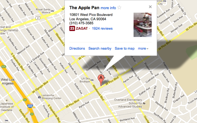 Apple Pan West LA Location