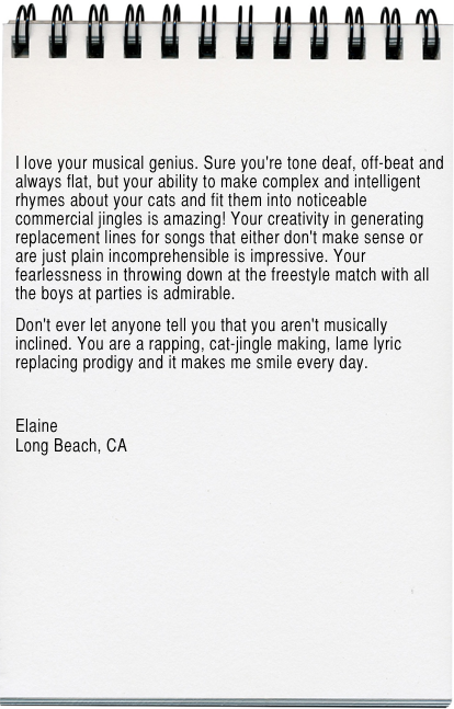 Elaine Letter