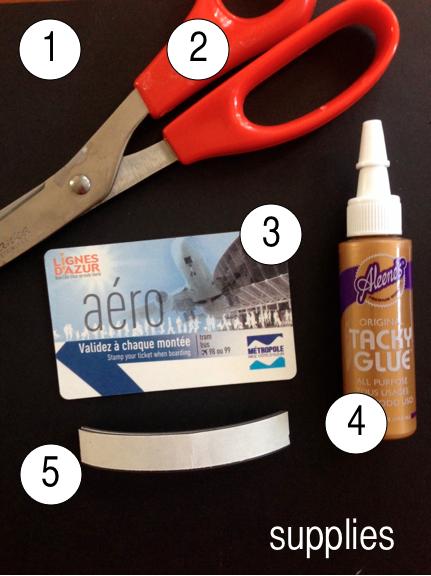 Travel Ticket Magnet Supplies