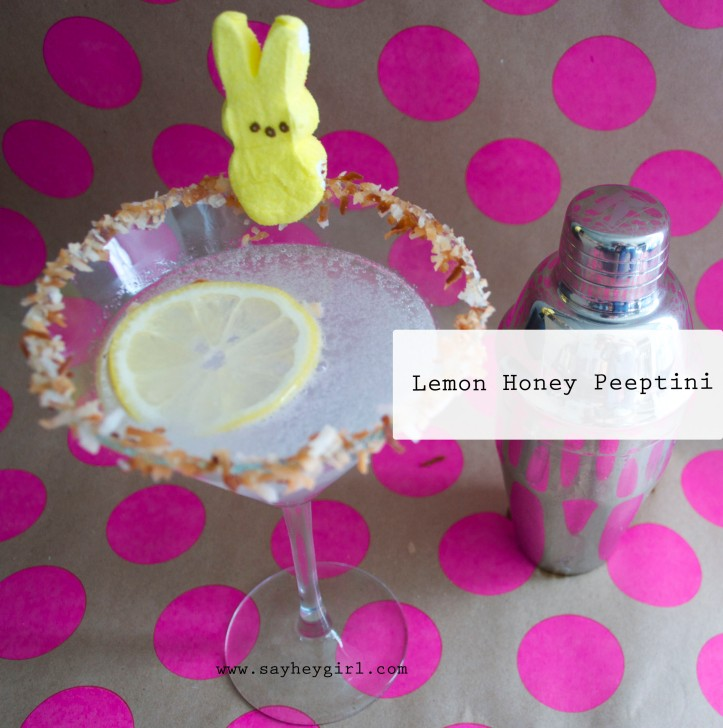 Lemon Honey Peeptini