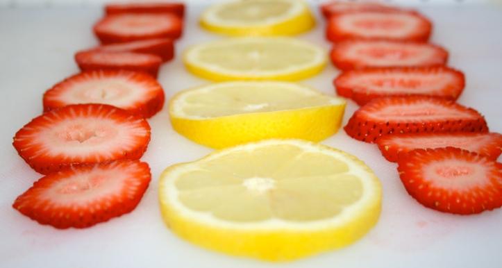 lemons and strawberries
