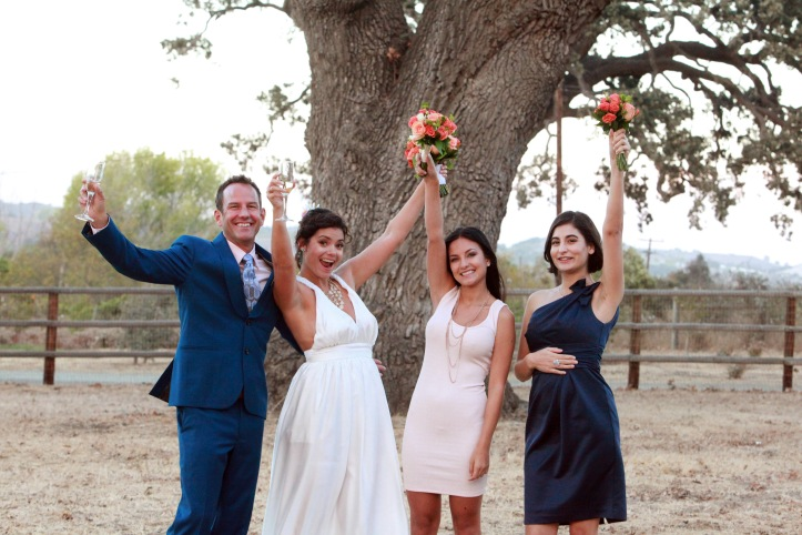 Our wedding party consisted of the two most beautiful women: my sister and Shawn's daughter.
